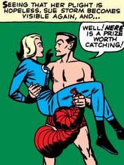 Susan Storm (Earth-616) and Namor McKenzie (Earth-616) from Fantastic Four Vol 1 4 0001