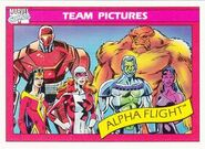 Alpha Flight (Earth-616) from Marvel Universe Cards Series I 0001