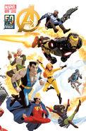 Avengers Vol 5 20 50 Years of Avengers Variant