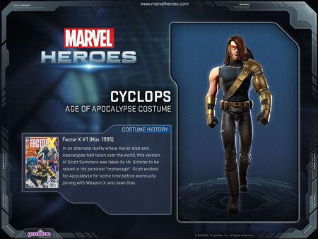 Costume cyclops AoA