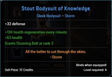 Equipment-Bodysuit-Stout Bodysuit of Knowledge (Storm 33)
