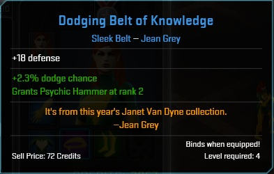 Equipment-Belts-Dodging Belt of Knowledge (Jean Grey 18)