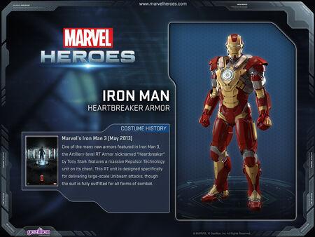 Costume ironman heartbreaker