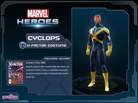 Costume cyclops xfactor