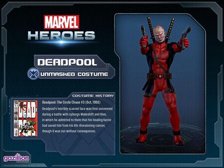 Costume deadpool unmasked
