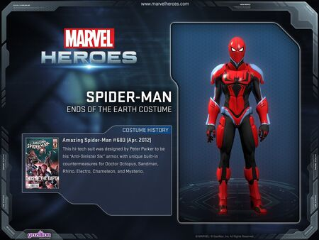 Costume spiderman EOTEarth