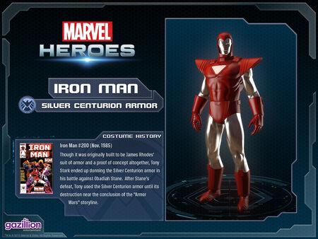 Costume ironman silvercenturion