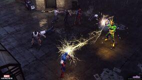 Captain America vs Electro!