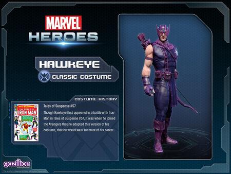 Costume hawkeye classic