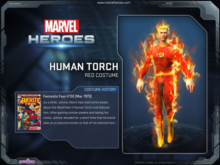 Costume humantorch red