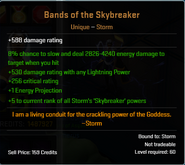 Bnds of the skybreaker