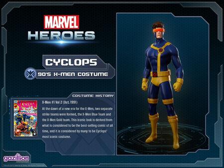 Costume cyclops 90s
