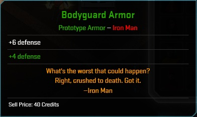Equipment-Armor-Bodyguard Armor (Iron Man 6)
