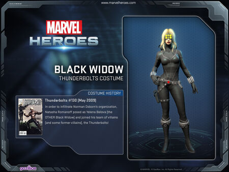 Costume blackwidow thunderbolts