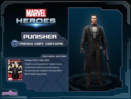Costume punisher trenchcoat