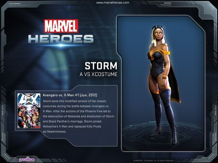 Costume storm avsx