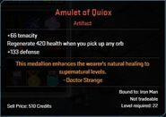 Amulet of Quiox Descr