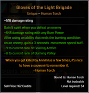 Gloves of the Light Brigade