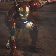 Iron Man landing.