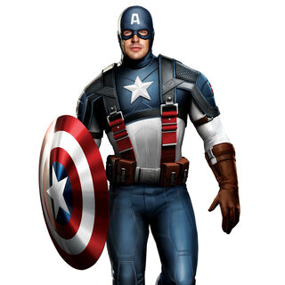 Concept art of Chris Evans as Captain America.