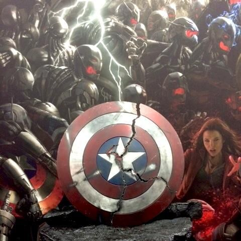 Captain America's shattered shield at Age of Ultron panel at SDCC'14