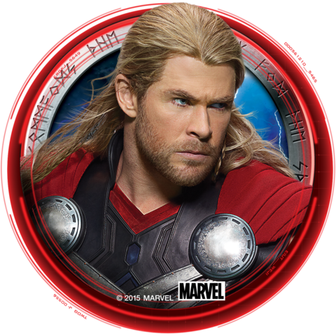 File:Thor Promo Button Avengers Age of Ultron.png