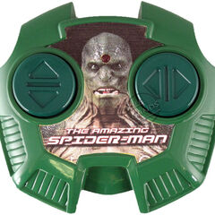 Merchandising from the movie: Lizard's remote control, with the character's first official photo.