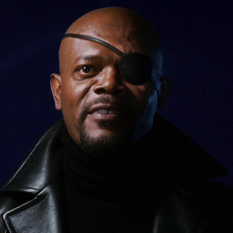 Nick Fury approaches <a href=