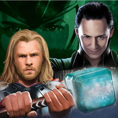 Loki and Thor promo art.
