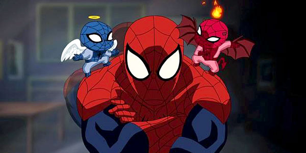 File:Ultimatespiderman with spidey angel and devil2.jpg