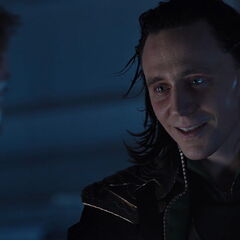 Loki after he takes the control of Hawkeye.