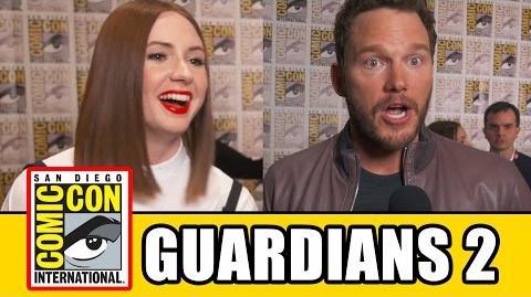 GUARDIANS OF THE GALAXY 2 Comic Con Interviews - Chris Pratt, Karen Gillan, Zoe Saldana