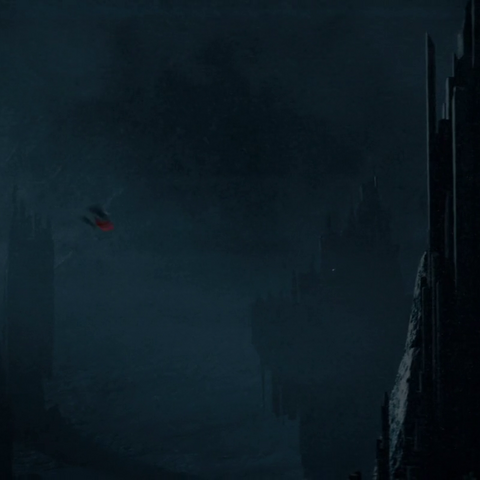 Thor and Malekith falling in Jotunheim