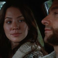 Kayla and Logan drive home