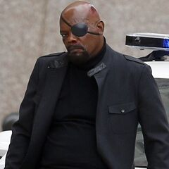 Samuel L. Jackson on set.