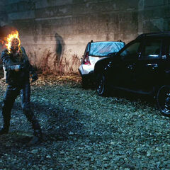 Ghost Rider attacking.