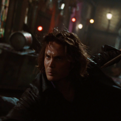 Gambit battles Logan