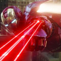 Iron Man using lasers