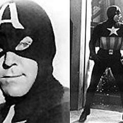 Captain America seen in the serials
