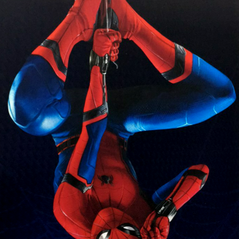 Spider-Man suit in <i>Spider-Man: Homecoming</i>.