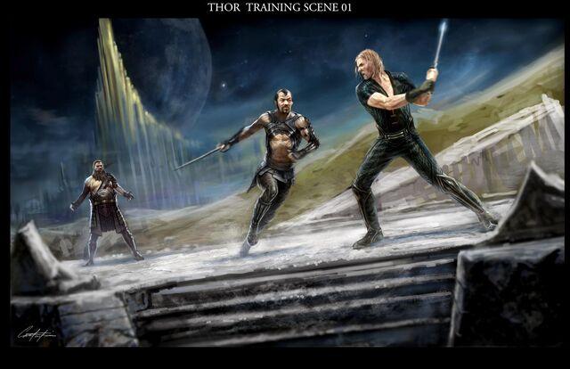 File:Warriors three training print.jpg