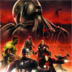 Promotional art of The Vision with The Avengers