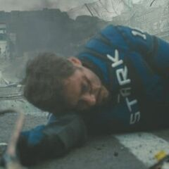 Tony after Whiplash destroyed his car