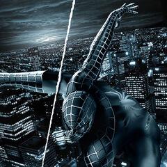 Black suit poster.