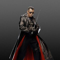 Blade with his trademark sword.