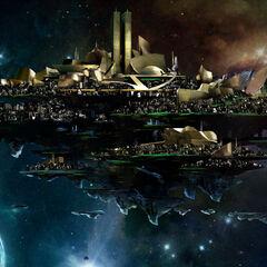 Concept art for Asgard.