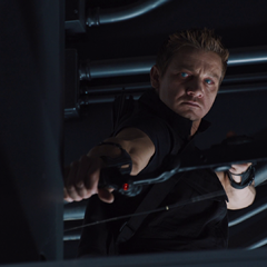 Hawkeye under Loki's control (film screenshot)