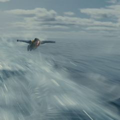Banshee flying into battle.