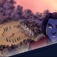 Nightcrawler sees the Institute destroyed.