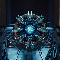 The Tesseract being studied at the facility.